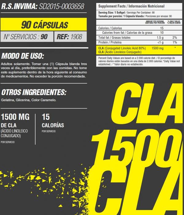 CLA 1500 MG XTREME TONING FORMULA