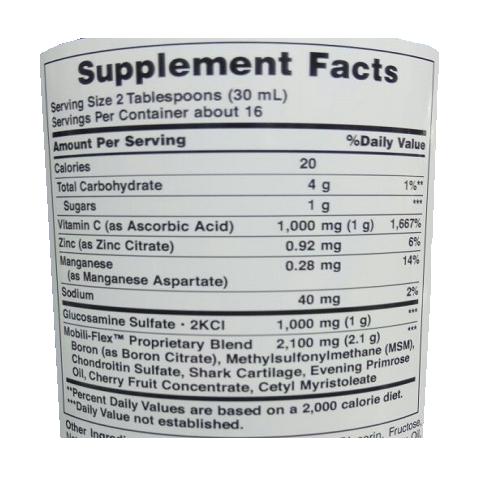 tabla glucosamina puritans liquida