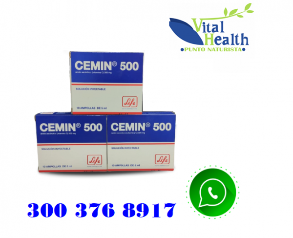 VITAMINA C INYECTABLE CEMIN 500 MG.