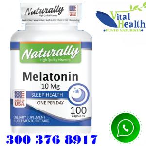Melatonina 10 mg 100 Capsulas Promueve el Sueño