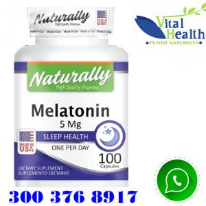 Melatonina Sublingual 5 mg 100 Tabletas Promueve el Sueño