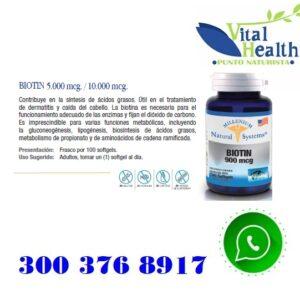 Biotina 10.000 mcg X 100 Capsulas Blandas