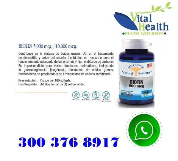 Biotina 5.000 mcg X 100 Capsulas Blandas