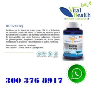 Biotina 900 mcg X 100 Capsulas Blandas