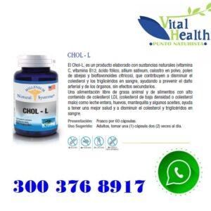 CHOL-L Contra El Colesterol X 60 Capsulas