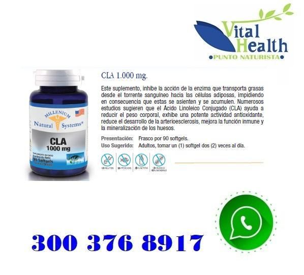 CLA 1.000 mg Quemador De Grasa X 90 Cap Blandas