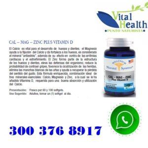 Calcio Magnesio Y Zinc Con Vitamina D X 100 Cap Blandas