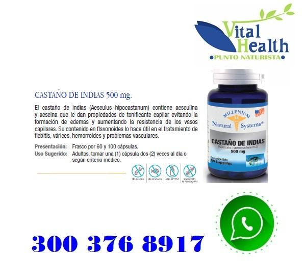 Castaño De Indias 500 mg X 60 Capsulas