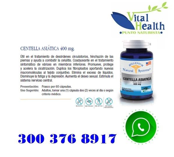 Centella Asiatica 400 Mg Por 60 Capsulas