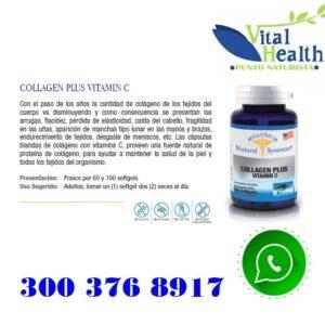 Colageno Hidrolizado Con Vitamina C X 100 Capsulas Blandas