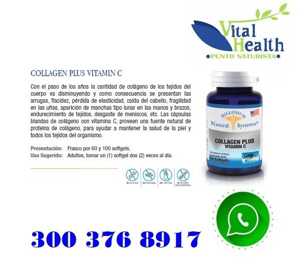 Colageno Hidrolizado Con Vitamina C X 60 Capsulas Blandas