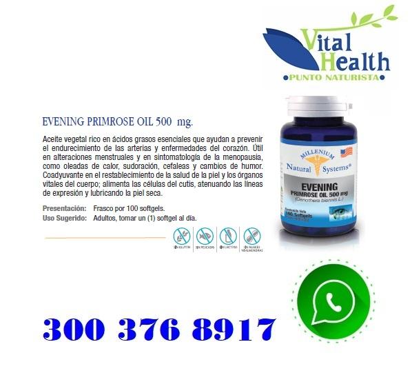 Evening Primrose Oil 500 Mg X 100 Capsulas Blandas