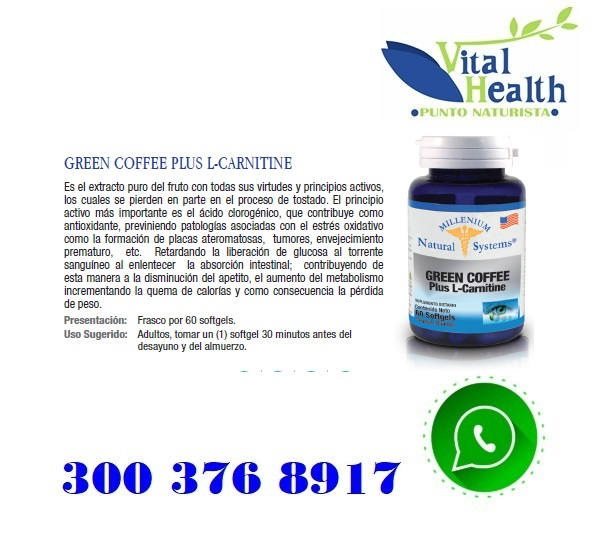 Green Coffee Con L Carnitina X 60 Cap Blandas