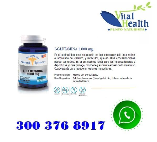 L-Glutamina 1.000 mg X 60 Cap Blandas