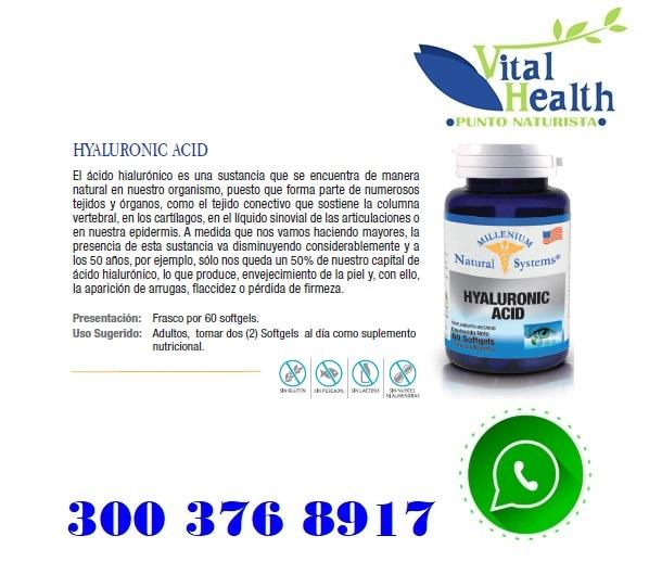 Acido Hialurónico X 60 Cap Blandas