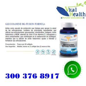 Glucosamina Hg Fusion X 60 Capsulas Blandas