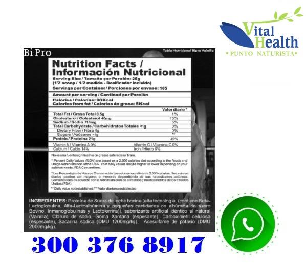 Bi Pro Classic Proteina Limpia Isolatada 6 Lb inf