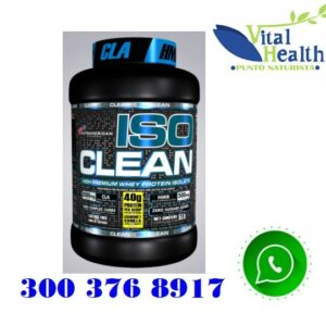 Iso Clean Proteína Isolatada 100% Whey Proteína Limpia